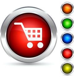 Shopping button vector image