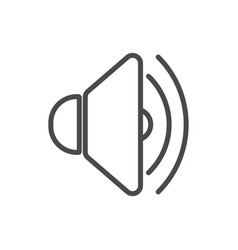 Sound up icon line voice symbol vector