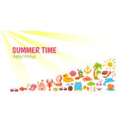 Summer time banner vector