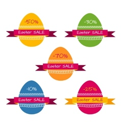 Tags template for easter sale vector