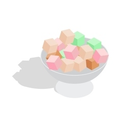Turkish delight icon isometric 3d style vector