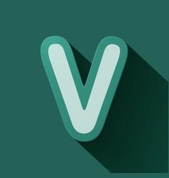 Volume icons alphabet v vector