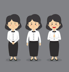 Waiters character with various expression vector