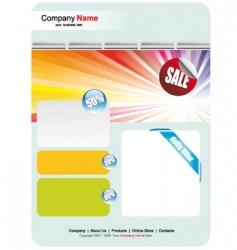 web site sales template vector image