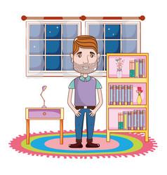 Young man body cartoon vector