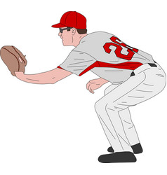 baseball player detailed vector image