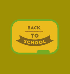 Flat icon on background back to school board vector