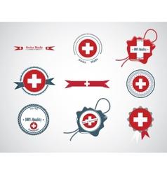 Made in Switzerland - set of seals badges vector image