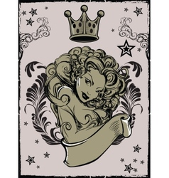 Tattoo Girl vector image