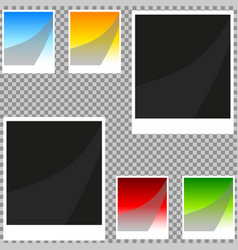 collection of blank retro photo frames vector image vector image