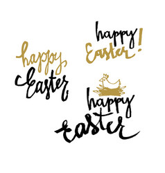 happy easter calligraphy set of holiday vector image vector image