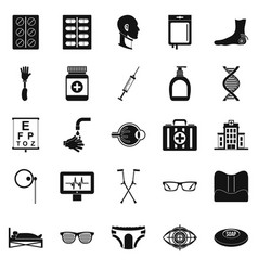 Invalid icons set simple style vector