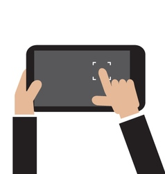 Touch To Focus On Smartphone vector image