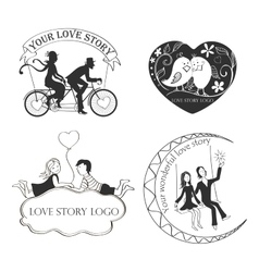 Love story Logo Symbol For Your Design vector image vector image