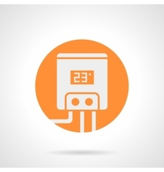 Orange round icon for electric water boiler vector image vector image