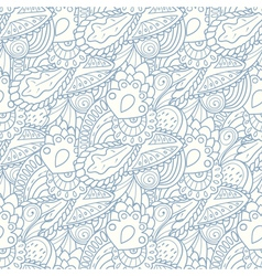 Pastel seamless pattern with hand drawn elements vector image vector image