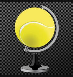 tennis ball tennis ball globe world game vector image vector image