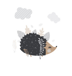 cute hedgehog for your vector image