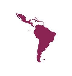 Latin-America-Map-380x400 vector image vector image