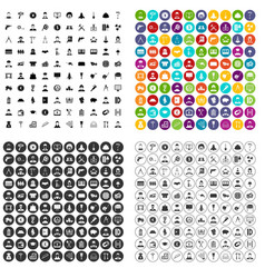 100 job offer icons set variant vector
