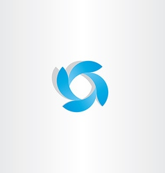 Abstract business logo blue tech icon symbol vector