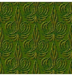 Abstract floral green seamless background vector