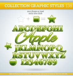 Apple Graphic Style for Design vector