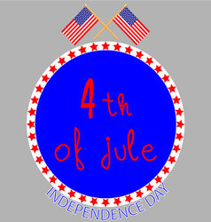 Badge independence day vector image