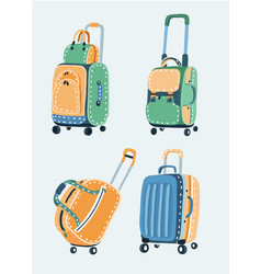 bags set different kinds bags and purses vector image