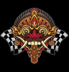 Balinese rangda mask design vector