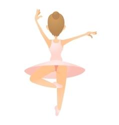 Ballerina icon flat style vector
