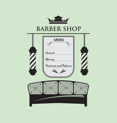 barbershop male salon vector image