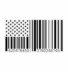barcode flag vector image
