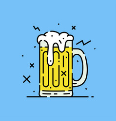 beer glass mug icon vector image