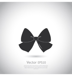Black bow logo or icon vector image