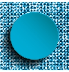 Blue circle with blue sequins background vector
