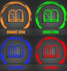 Book sign icon Open book symbol Fashionable modern vector