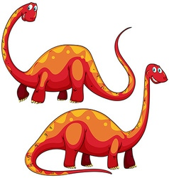 Brachiosaurus left and right view vector