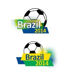 Brazil 2014 soccer banners vector