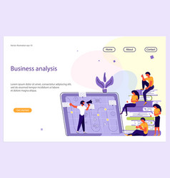 business analisys website template vector image