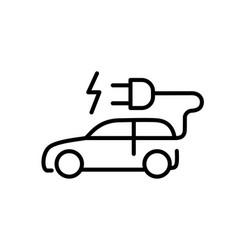 car icon hybrid vehicles eco friendly auto vector image