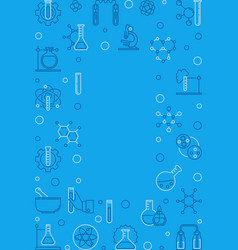 chemistry blue vertical frame chemical vector image