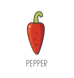 Chili pepper line cooking vector