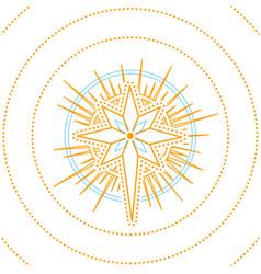 christmas star print vector image