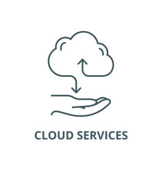 cloud services line icon cloud services vector image