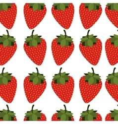 Colorful pattern with strawberrys fruit vector