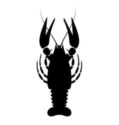 crayfish icon river lobster langoustine vector image