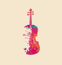Creative musical image an abstract violin vector