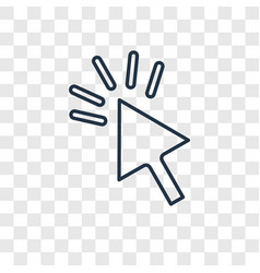 cursor concept linear icon isolated on vector image
