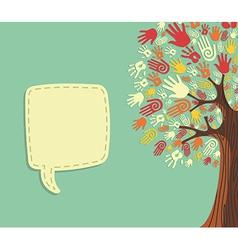 Diversity Tree hands template vector